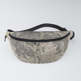 Engraving: The Surface of the Moon Fanny Pack