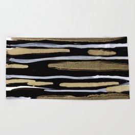 Golden splash Beach Towel