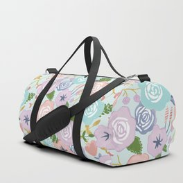 Watercolor Nursery Florals Duffle Bag