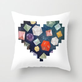 Heart of Dice Throw Pillow