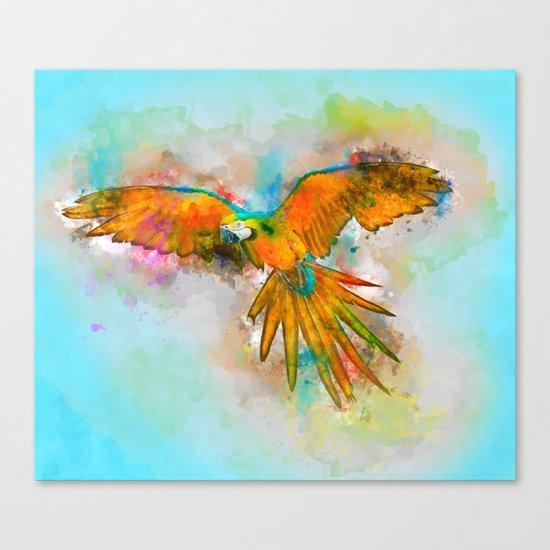 High as a Macaw Canvas Print