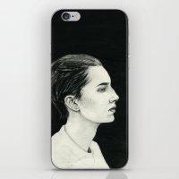 beth hoeckel iPhone & iPod Skins featuring Beth by Kalynn Burke