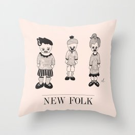 New Folk - Playground Gang Throw Pillow