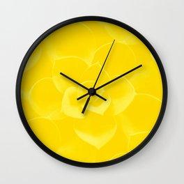 Succulent Plant Yellow Mellow Color #decor #society6 #buyart Wall Clock