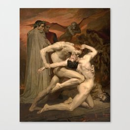 Dante and Virgil in Hell Canvas Print
