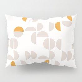 Mid Century Modern organic geometric snow pattern 7 Pillow Sham