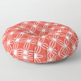 Abstract Circle Dots Red Floor Pillow
