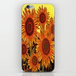 sunflowers family iPhone Skin