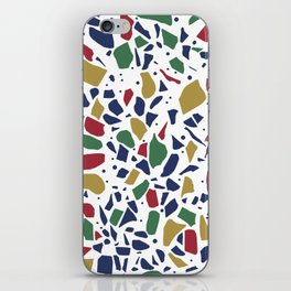 Terrazzo Spot Color on White iPhone Skin