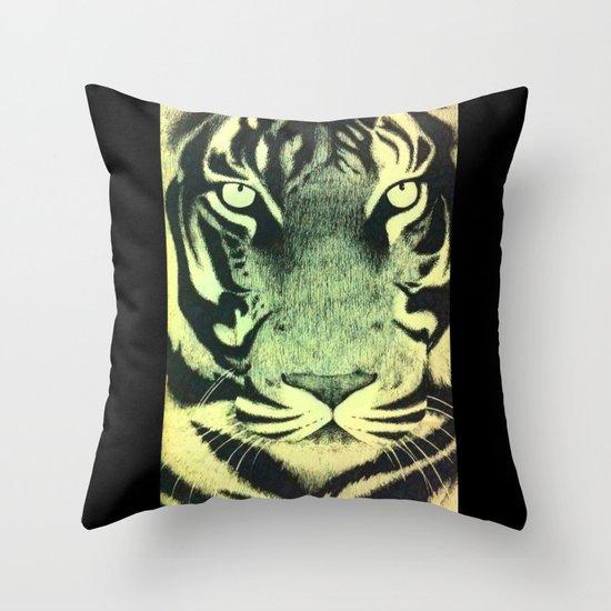 Be a Tiger (Yellow) Throw Pillow