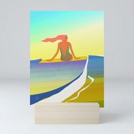 Surfing The Groovy Summer Mini Art Print