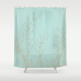 Teal Aquamarine Turquoise Abstract Nature Shower Curtain