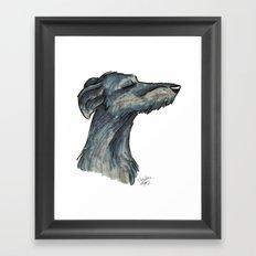 Brush Breeds-Scottish Deerhound Framed Art Print