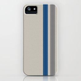 Blue & Grey Stripe iPhone Case