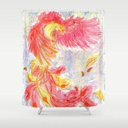 Firey Phoenix Shower Curtain
