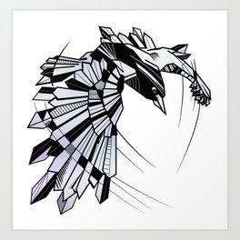 Geometric Raven Art Print