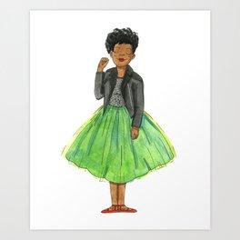 Green Tutu Art Print