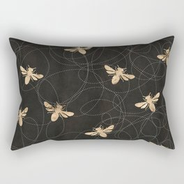 Busy Bees (Black) Rectangular Pillow