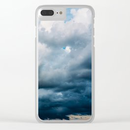 Rain Storm Clouds Gathering On Sky, Stormy Sky, Infinity Clear iPhone Case