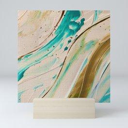 Dance of the mermaids, marine oil abstraction Mini Art Print