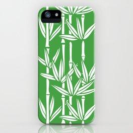 Bamboo Rainfall in Sullivan Green/White iPhone Case