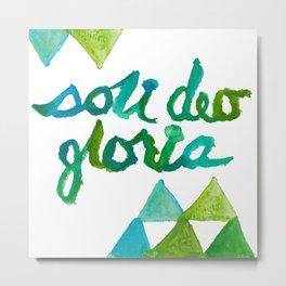 SOLI DEO GLORIA LIFE- BLUE Metal Print