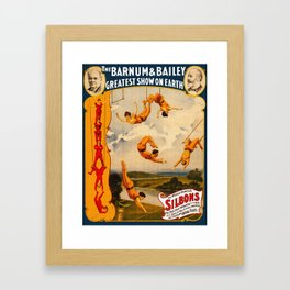 Vintage Barnum & Bailey Circus - Trapeze Framed Art Print