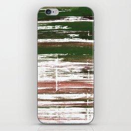 Kombu green abstract watercolor iPhone Skin