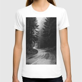 The Dark Path (Black and White) T-shirt