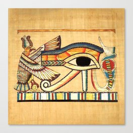 Egypt Nekhbet Eye Horus Canvas Print