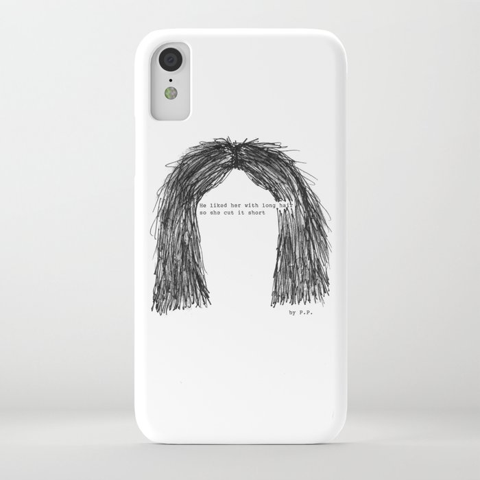 Short Hair Famous Tumblr Quote By Pien Pouwels Iphone Case By