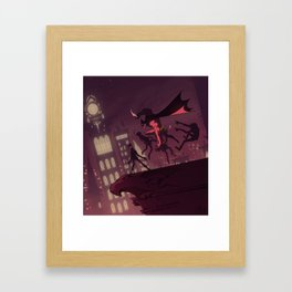 Night Knight Knife Fight Framed Art Print