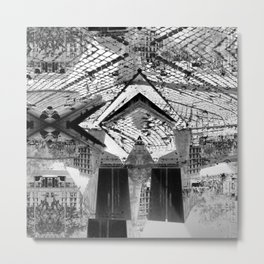 Summer space, smelting selves, simmer shimmers. 24, grayscale version Metal Print