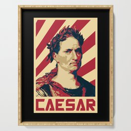 Julius Caesar Retro Propaganda Serving Tray
