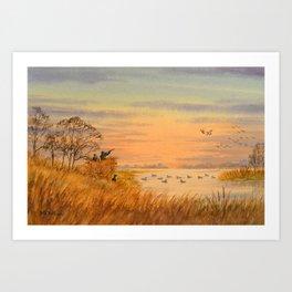 Duck Hunters Calling Art Print
