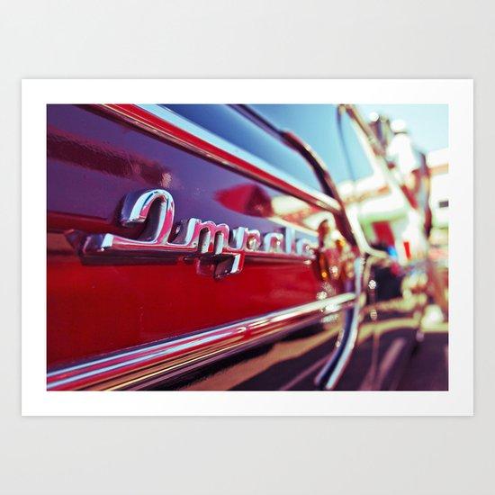 Impala blur Art Print