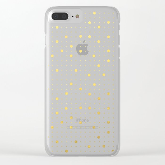 Pin Points Gold Clear iPhone Case