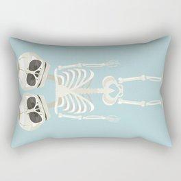Siamese Twins Skeleton Rectangular Pillow