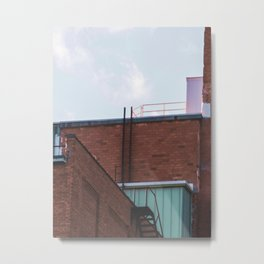 Ladders and Railings-Architecture and the Sky Metal Print