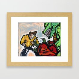Battle at the Arena Framed Art Print