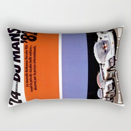 Le Mans 1982, 24hs Le Mans, 1982, original vintage poster Rectangular Pillow