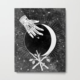 Waxing Crescent Metal Print