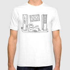 robot schmobot White SMALL Mens Fitted Tee