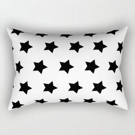 Black & White Stars Rectangular Pillow
