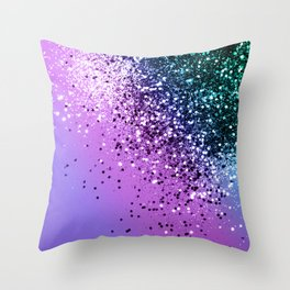 Unicorn Girls Glitter #20 #shiny #decor #art #society6 Throw Pillow
