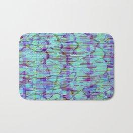 Ocean Blue Wood Design Bath Mat