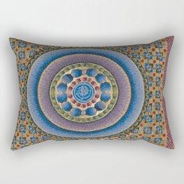 Armenian illuminated manuscript style concentric circles design Rectangular Pillow