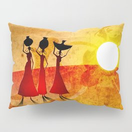 Africa retro vintage style design illustration Pillow Sham