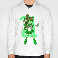 sailor jupiter Hoodies featuring Sailor Jupiter by Glopesfirestar