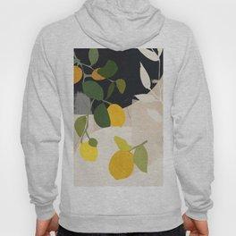 Lemon Abstract Art Hoody